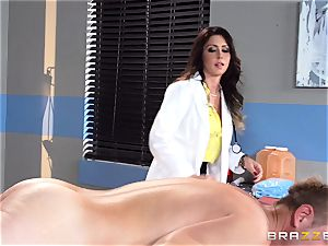 sugary-sweet physician Jessica Jaymes relaxes her throbbing patient
