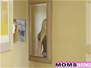 MomsTeachSex - first Time three way Is With Step mommy