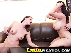LatinFixation red-hot three-way with Sophie Dee