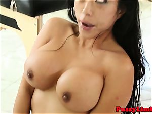 Bigtitted chinese hoe nailed tough from behind