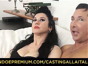 audition ALLA ITALIANA dark haired nymphomaniac rough anal fuck-fest