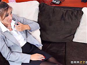 juicy reporter Rilynn Rae gets a porn industry stars massive spear