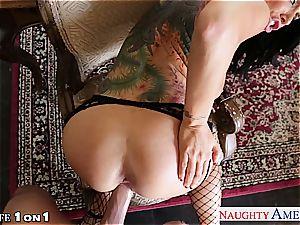 tattooed housewife Romi Rain pulverizing