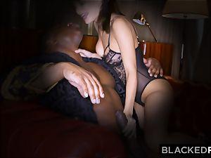 BLACKEDRAW wifey enjoys his phat dark-hued salami a lil' too much