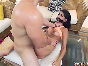 assistant smacked and torn up bound ball-gagged first time Sophia Leone Gets It The Way She