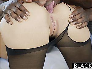BLACKED 18yr elderly Jillian Janson has buttfuck hookup with big black cock