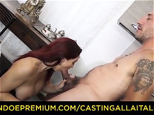 audition ALLA ITALIANA - huge-titted new-cummer heads for buttfuck sex