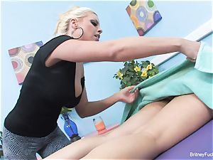 girly-girl massage with Britney and Charley