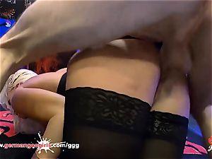 gorgeous Daisy Lee in German Goo girls cum decorated