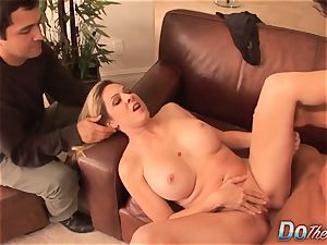 ash-blonde housewife takes it rectally from porn guy