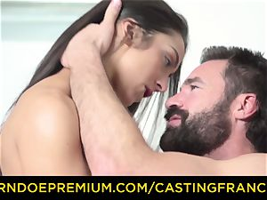 audition FRANCAIS - unexperienced sweetheart pounded and jizm glazed