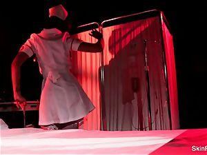 super super-hot nurse skin Diamond gives a killer tease