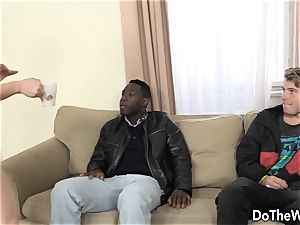 brown-haired wife buttfucked by big black cock