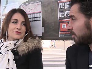 LA new-cummer - big-titted French amateur enjoys gonzo penetrate