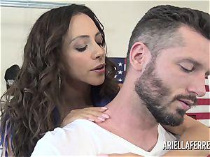 Ariella Ferrera pays the bills with her torrid drill fuck hole