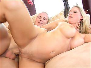 Devon Lee stunner getting mans love jam split in her mouth