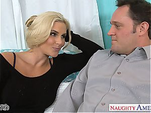 Glamourous Phoenix Marie well-prepped for stiffy in her rosy puss