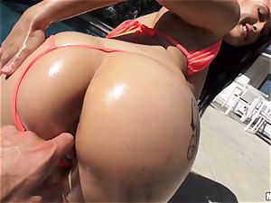 freshly wed Katrina Jade is oiled up and nailed by her new husband