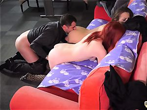 nasty Sisters entice and plow their Step parent share cum