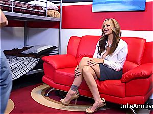 Julia Ann getting strewn with jism