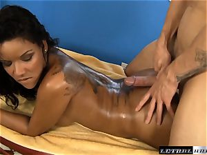 uber-sexy Latina Elena Heiress gets rubbed and ravaged