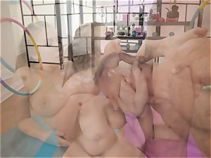 Danny glides his man-meat into the ass of yoga babe Lena Paul