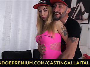 audition ALLA ITALIANA - thick fun bags blonde nymphomaniac anal invasion dp
