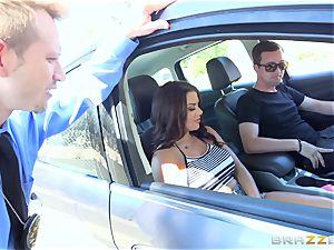 Keisha Grey getting banged via the car