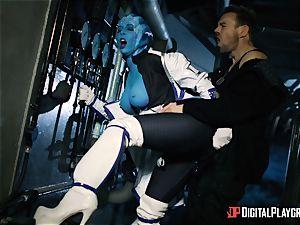 Space porno parody with sizzling alien Rachel Starr