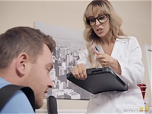 Cherie Deville enjoys playing physician