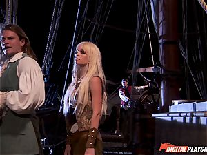 Pirate jams his firm meat sword into Devon and Teagan Presley