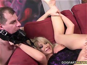 hotwife bitch Leya Falcon takes buttfuck pounding
