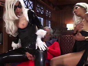 Vivid.com - 3 supah Villains have a crazy threesome