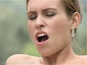 That mouth-watering taste of labia on her tongue