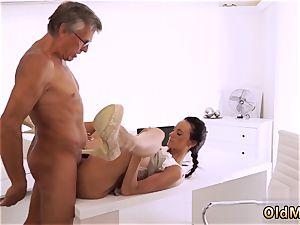 enjoys dad cock ultimately she s got her manager spear