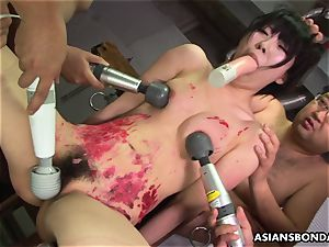 japanese whore luvs to be sadism & masochism treated to a wax demonstrate