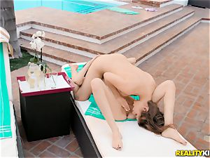 Rose black and Kayla Paris slurping slit