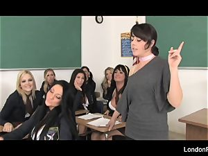 schoolgirl fuck-fest featuring London Keyes and more!