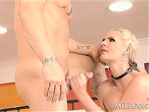 MILFGonzo humungous blond milf Phoenix Marie gets rectally screwed