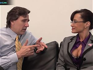 Lisa Ann hard-core drill with her manager