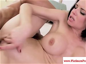 Veronica Avluv deepthroats and smashes hard beef whistle and loves it