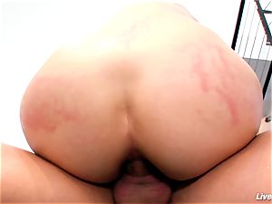 LiveGonzo Bobbi Starr super hot brunette Does anal invasion For joy