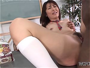 nubile breezy gets nailed rock-hard by an ginormous ebony manstick