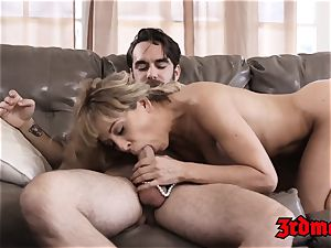 Mature babe Cherie Deville jams taut labia with manhood