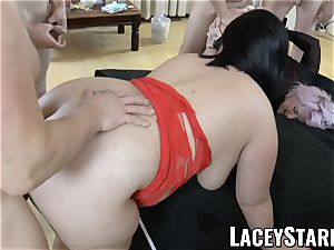 LACEYSTARR - Lacey Starr and her buddies group-fucked