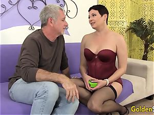 Mature hoe entices a gigantic Dicked guy