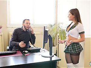 LA COCHONNE - dirty rectal with hot French school girl