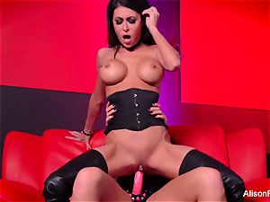 Alison Tyler plows Jessica Jaymes with a strap-on