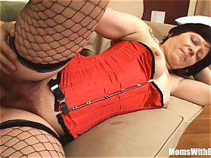 wonderful Mama Eva In Her lingerie tearing up A youthful dude
