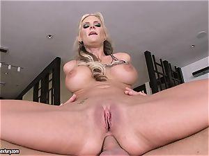 ass fucking lover Phoenix Marie bounces her ass on a immense manmeat